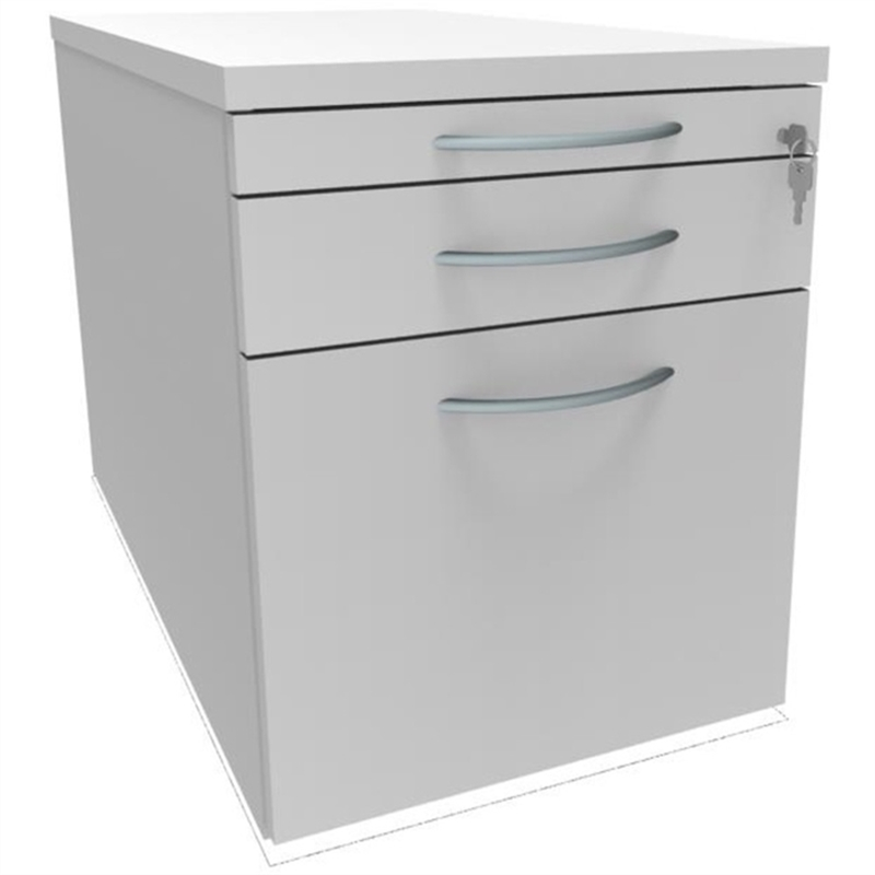 classicline-rollcontainer-all-in-one-1/2/6-440-x-800-x-540-mm-3-schubladen-diamantweiss